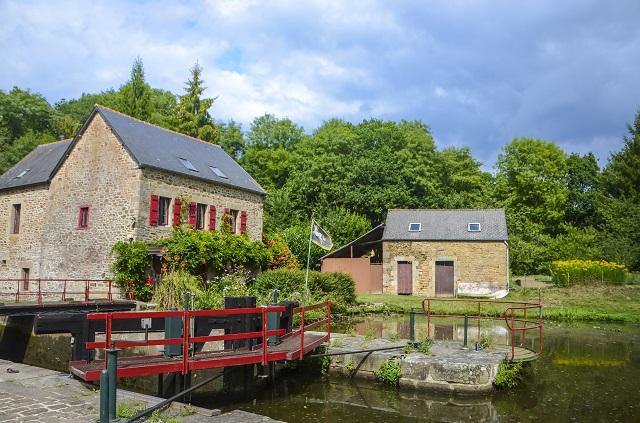 Sluiswachtershuizen in Bretagne, Ecluse de Boutron a Calorguen