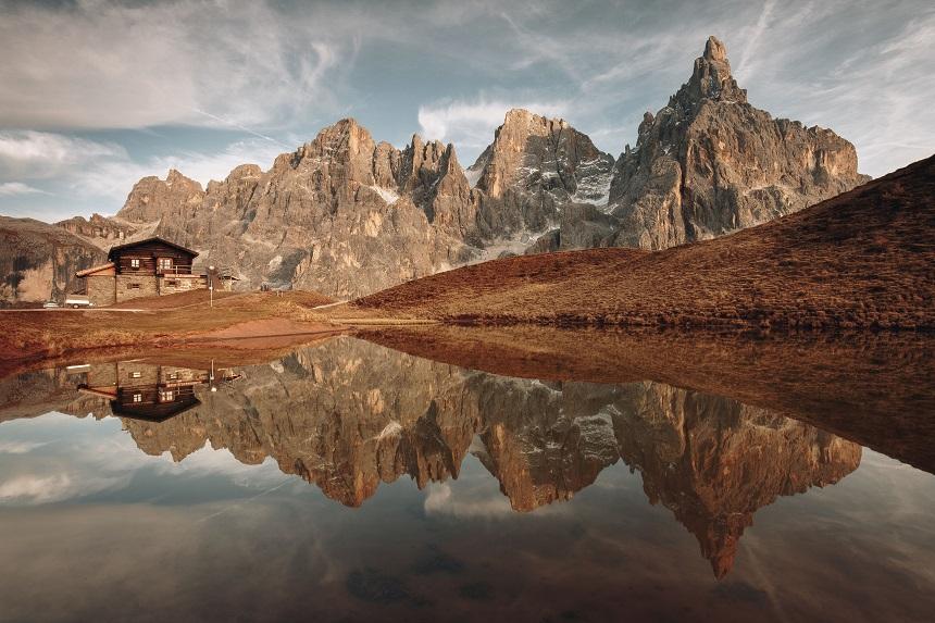 de herfstkleuren van Trentino